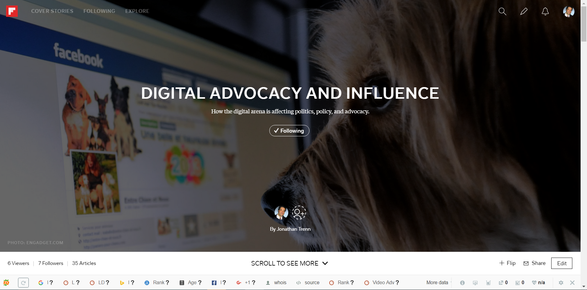 Digital Advocacy and Influence screen grab